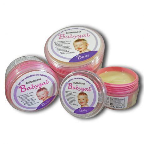 babygal vitaminska krema za negu bebe i decu kolekcija od tri komada različitih mililitraža bez parabena
