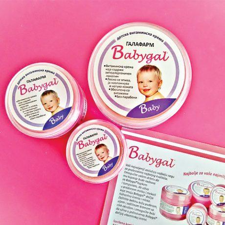 bebigal kolekcija od tri kreme za negu bebe i decu bez parabena