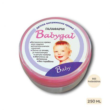 Babygal® vitaminska krema za bebe i decu 250 ml za negu bebe i decu bez parabena