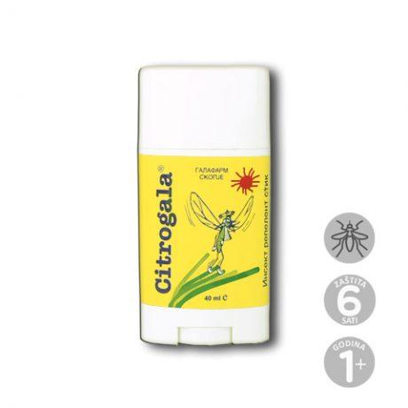 Citrogala stik za zaštitu kože od uboda komaraca i drugih insekata u stiku