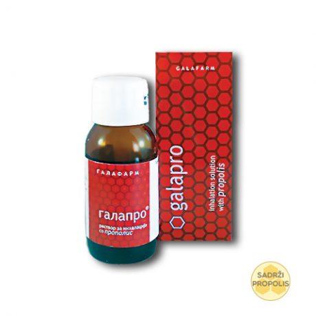 Galapro® rastvor za inhalaciju sa propolisom u tamnoj staklenoj flašici
