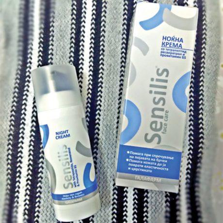 Sensilis® noćna krema za negu lica sa resvaratrolom u vakum bočici
