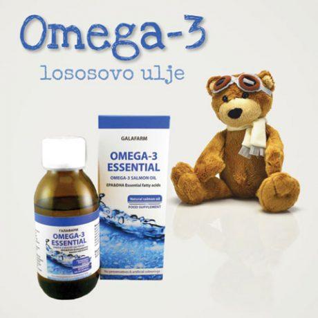 omega 3 lososovo ulje u staklenoj bočici