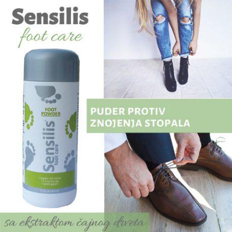 SENSILIS® puder protiv znojenja stopala sa čajnim drvom u plastičnom pakovanju