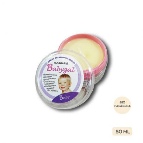 Babygal® vitaminska krema za bebe i decu 50 ml malo pakovanje vitaminske kreme za negu bebe i decu bez parabena