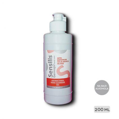 SENSILIS® antibakterijski gel 200 ml za ruke na bazi alkohola pakovanje 200 ml