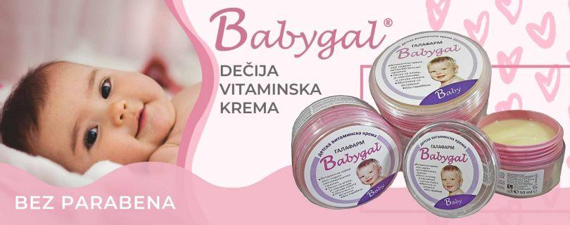 Babygal bebi/dečija vitaminska krema bez parabena iz Galafarma