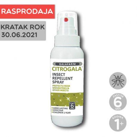 Citrogala sprej za zaštitu kože od uboda komaraca i drugih insekata u stiku RASPRODAJA