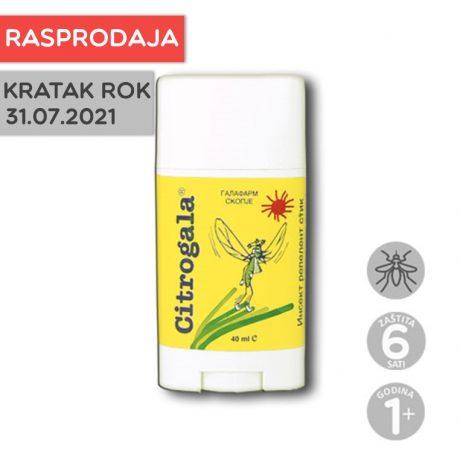 Citrogala stik za zaštitu kože od uboda komaraca i drugih insekata u stiku RASPRODAJA